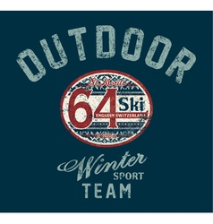 Saint Moritz winter ski team vector image
