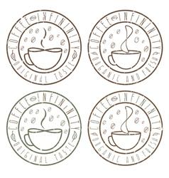 Set of coffee infinity vintage grunge labels vector