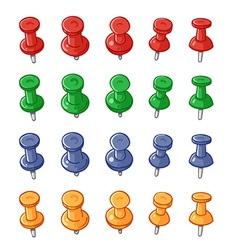 Set push pins vector