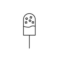 shocolate ice cream on stick vector image