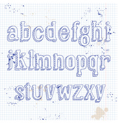 Small letters on notebook vector