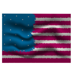 Stylized american flag is fluttering vector