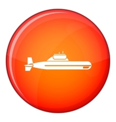 Submarine icon flat style vector