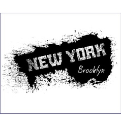 t shirt typography graphics new york brooklyn vector image