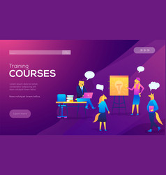 teamwork training improving professional skill vector image