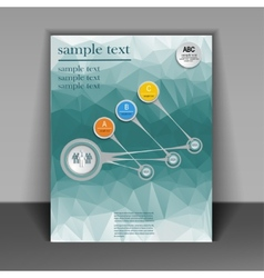 template booklet on the subject of business vector image