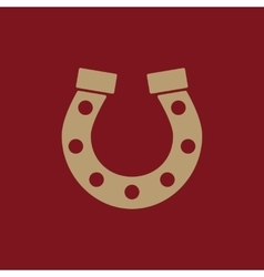 The horseshoe icon Horse and races symbol Flat vector