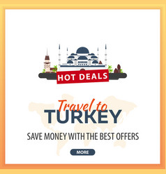 travel to turkey travel template banners for vector image