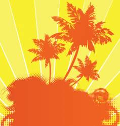tropical sunshine vector image