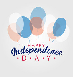 united stated happy independence day lettering vector image