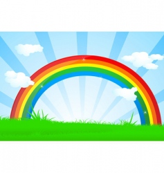 vibrant rainbow vector image