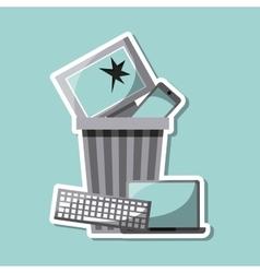 Waste concept design vector