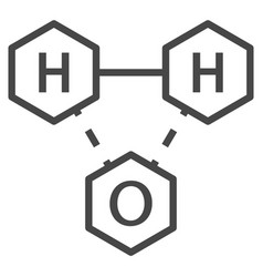 Water chemistry formula icon outline style vector