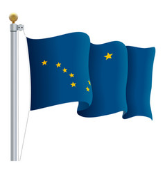 waving alaska flag isolated on a white background vector image