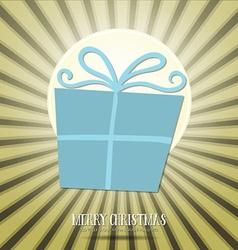 With christmas and gift box vector