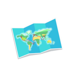 World map for travelling vector