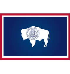 wyoming flag vector image