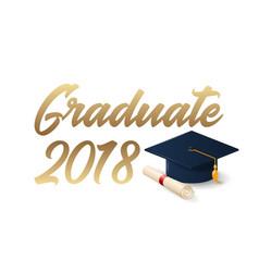 2018 graduation poster template vector image