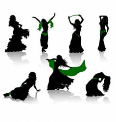 belly dance vector image vector image