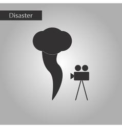 Black and white style icon tornado camera vector