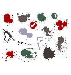 blood splat splash spot ink stain blot patch vector image