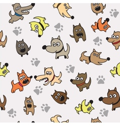 Cute dog seamless background vector image