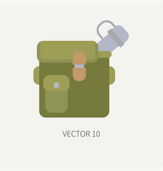 Line tile color hunt and camping icon jar vector
