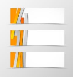 Set of header banner minimalistic design vector image