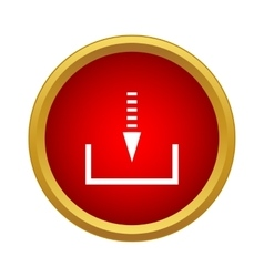 Upload data from a remote storage icon vector image