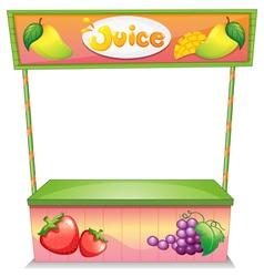 A fruit vendor stall vector