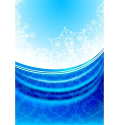 blue fabric curtain white snowflakes background vector image