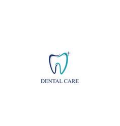 dental care icon logo template vector image