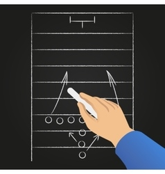Hand drawing soccer game strategy vector image