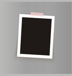 isolated realistic empty photo frame mockup vector image