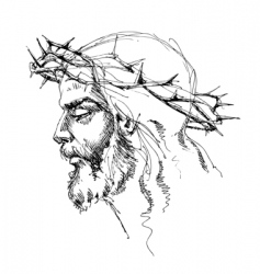 Jesus christ sketch vector