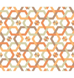 overlapping hexagons - seamless pattern vector image vector image