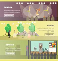 set of performing arts concept horizontal vector image