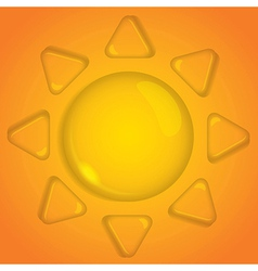 sun of water drop vector image vector image