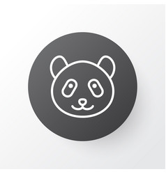 panda icon symbol premium quality isolated bear vector image