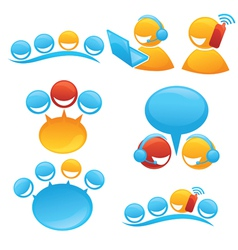 people society and communication symbols and icon vector image vector image