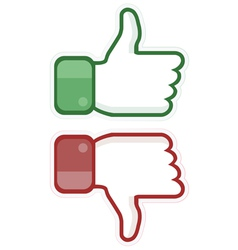 Thumb up and down vector image
