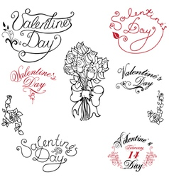 Valentine day elements vector image