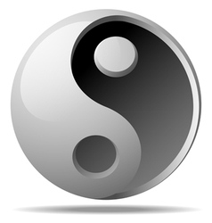 ying yang sign vector image