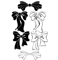 black bow vector image