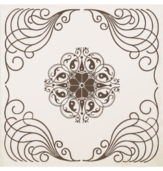 border vintage frame with ornament vector image vector image