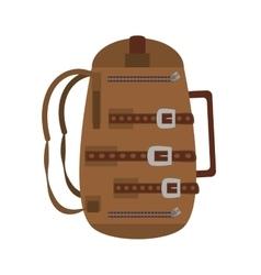 brown packback travel bag tourist vector image