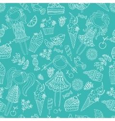 children ice cream candy vector image