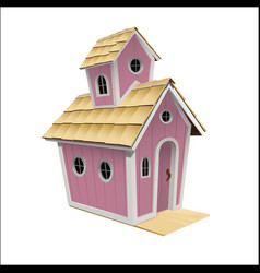 A childrens house vector