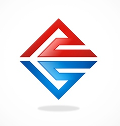 abstract square geometry construction logo vector image
