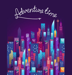 Adventure time concept with lettering inscription vector